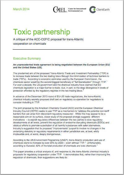 Toxic Influence How Chemical Industry >> Chemical Industry Influence Over Secretive Us Eu Trade Negotiations
